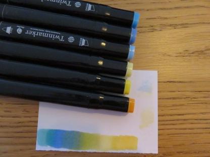 Blenden met groot kleurcontrast
